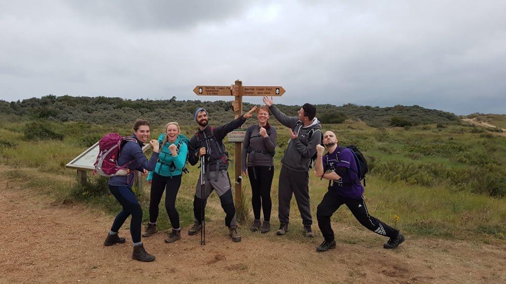 Team Aston Shaw walk 50 miles for local charity EACH