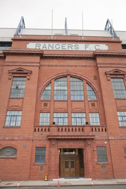 Rangers Ibrox stadium entrance to upper tier