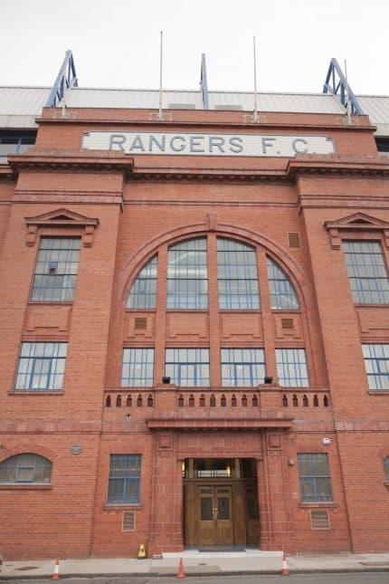 Rangers Ibrox stadium entrance to upper tier