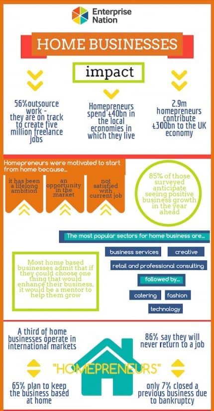 Homepreneurs Business Infographic