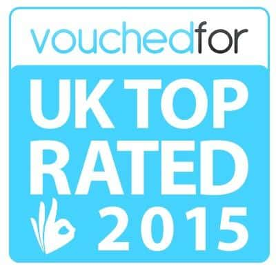 Vouched for UK Top Rated 2015 Logo