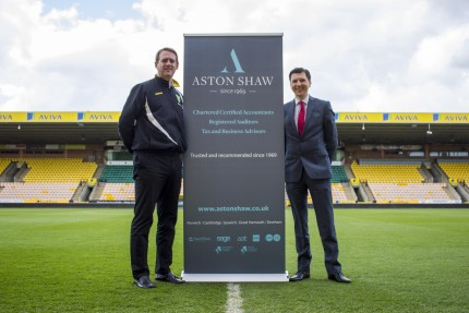 Aston Shaw Accountant stood out on Carrow Road pitch