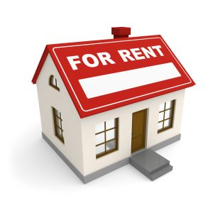 graphic of house for rent