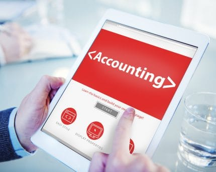 Accounting Software on white Tablet