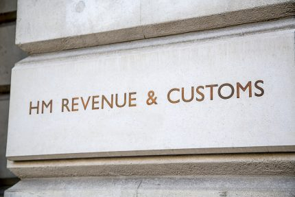 HMRC engraved on stone building