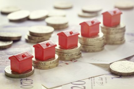Red Monopoly property on top of pounds