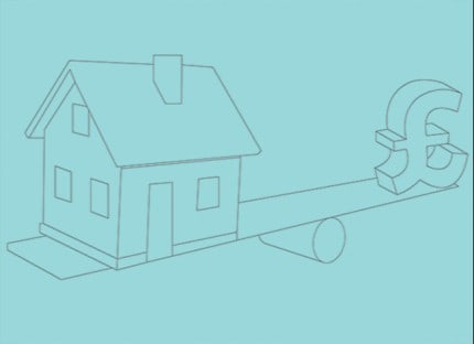Buying house to let Money balancing act graphic