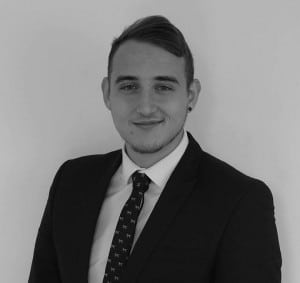 Young professional Luke Perry at the Ipswich office of Aston Shaw accountants