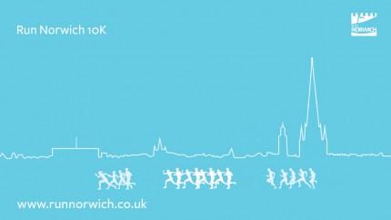 Run Norwich 2016 blue graphic