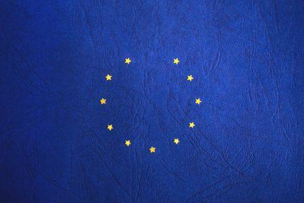 European stars on dark blue leather background