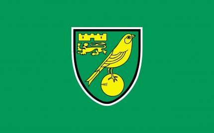 Norwich City badge on green backround