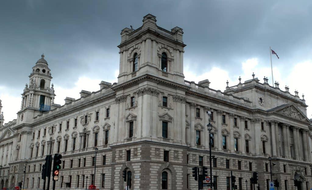 HMRC building against grey sky line
