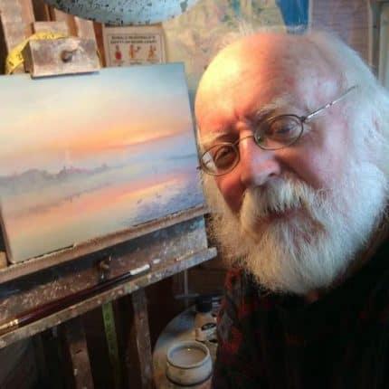 Local Artist David Dane Working on New Painting