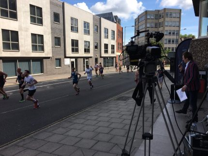 Aston Shaw streaming Run Norwich live to Facebook page with DJ