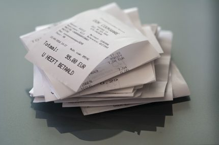 Photo of a Pile of Receipts