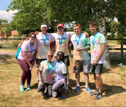 Aston Shaw Staff After Colour 5k for Big C
