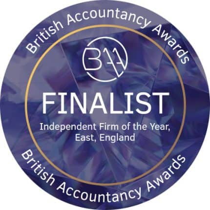 Badge for British Accountancy Awards 2018