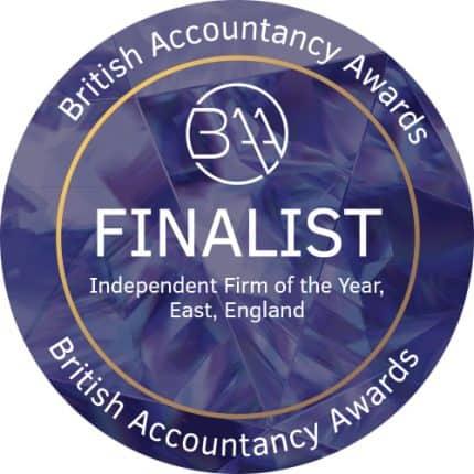 Badge for British Accountancy Awards 2018