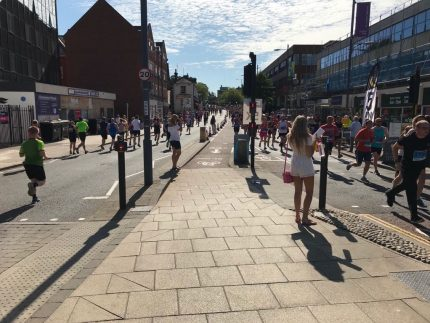 View from Aston Shaw's Run Norwich 2018 Cheer Station