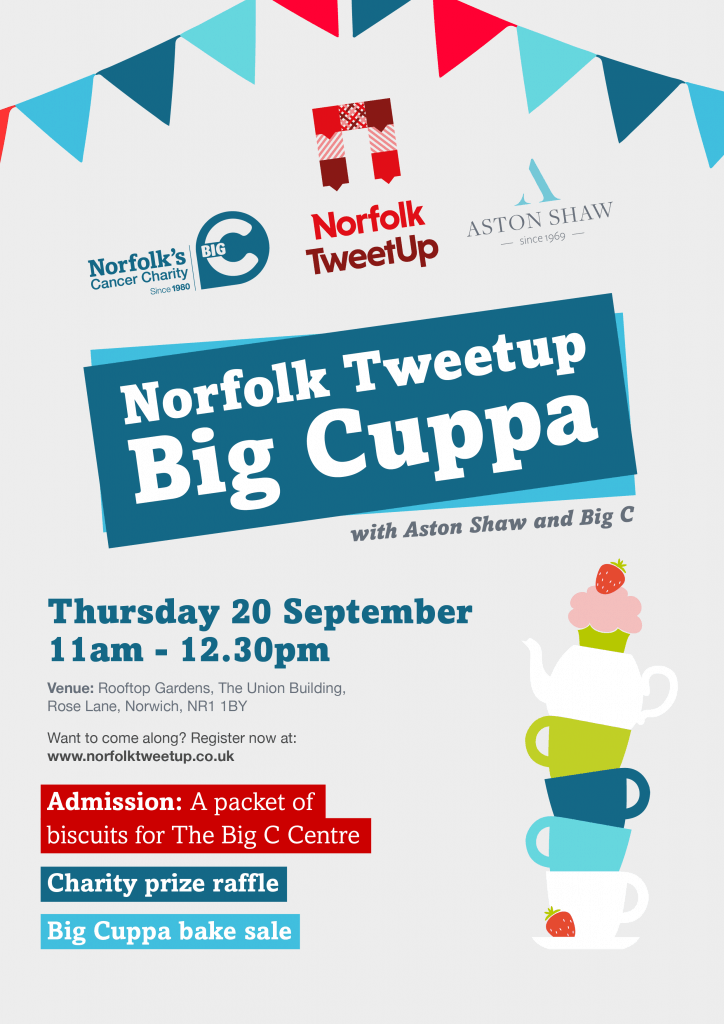Poster for Big Cuppa Networking Event