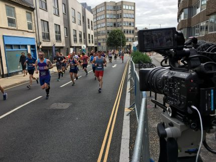 Photo of Aston Shaw's Cheer Station at Run Norwich 2019
