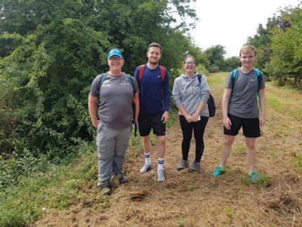 Team Photo of Payroll Team Before Walk for East Anglian Air Ambulance