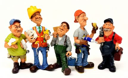 Caricatures of Different Construction Workers