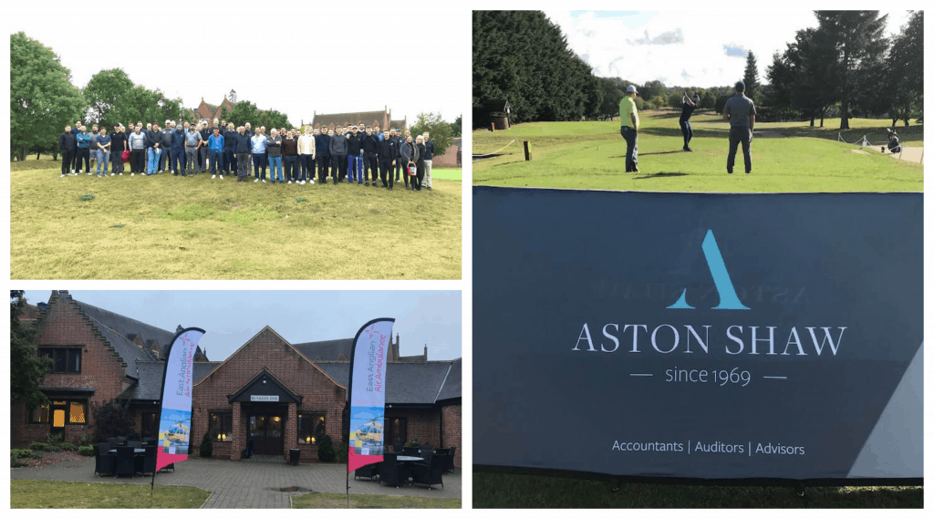Collage Of Photos From Aston Shaw's Golf Day