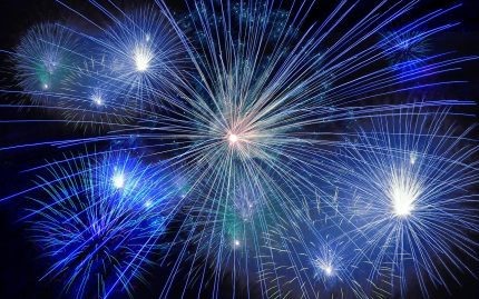 Photo of Blue Fireworks